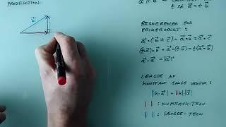 Projektion af vektor på vektor