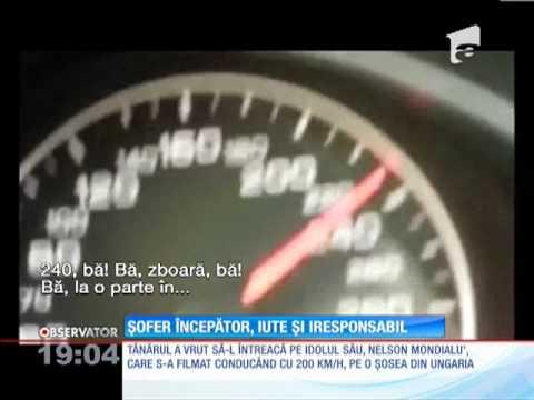 Un tânăr din Cluj s-a filmat în timp ce gonea cu 240 km/h, pe autostradă