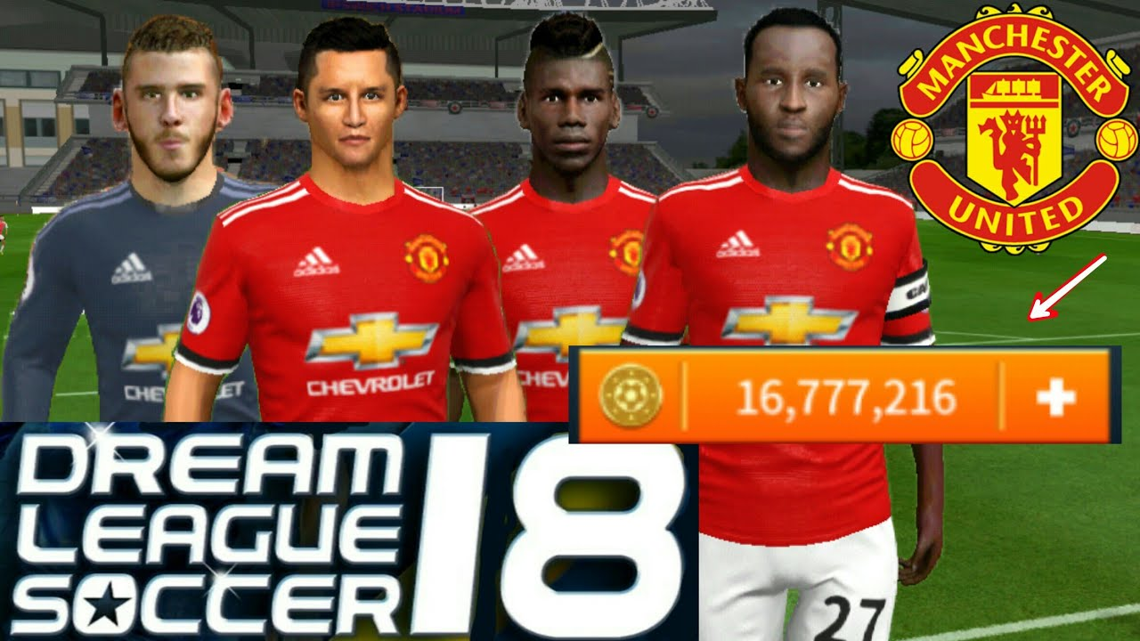9e46d4846 How To Hack Manchester United Team 2018 ○ All Players 100   Kits Logo ○  Dream League Soccer 2018