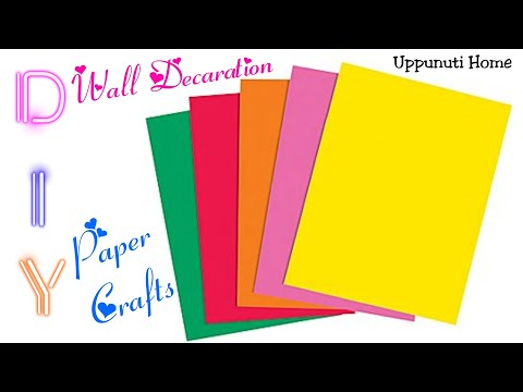 diy-wall-decorative-ideas-|-paper-crafts-for-home-decoration-|-diy-room-decor-|-uppunutihome