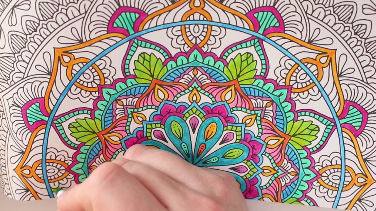 MANDALA COLORING BOOK MEDITATIVE GARDEN GOOD MUSIC FUN COLORS