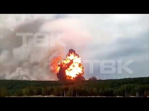 Взрыв на складе боеприпасов под Ачинском