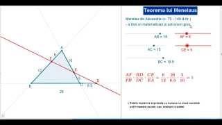 Teorema lui Menelaus