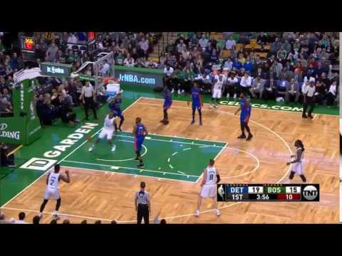 Al Horford head fakes and dunks