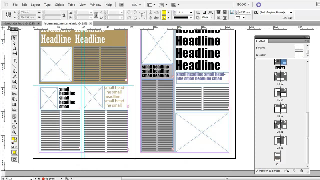 magazines templates indesign