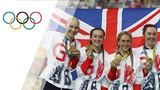 Team GB wins gold in Women's Team Pursuit