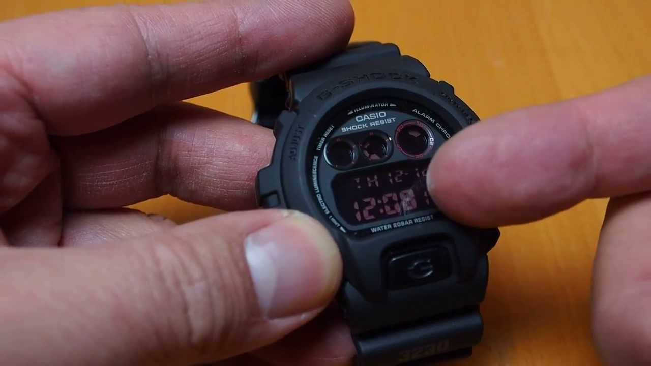 23a0ad78fa3f Casio G-Shock DW-6900MS Military Style watch flip review - YouTube