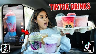TRYING VIRAL TikTok STARBUCKS DRINKS! **secret menu**
