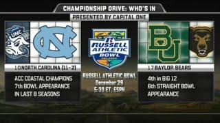 North Carolina vs Baylor in Russel Athletic Bowl 2015