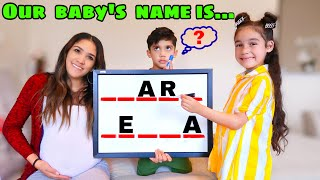 OUR OFFICIAL BABY NĄME REVEAL!! | Jancy Family