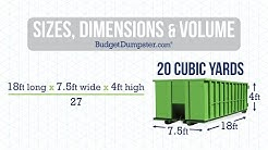 Understanding Dumpster Sizes, Dimensions and Volume | Budget Dumpster
