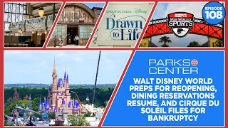 ParksCenter - Walt Disney World Preps to Reopen, Dining Reservations, & Cirque du Soleil - Ep. 108
