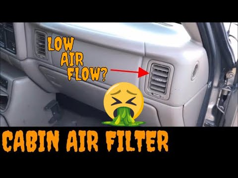 1999-2002 GMC Sierra/Chevy Silverado Cabin Air Filter Replacement/Installation Video