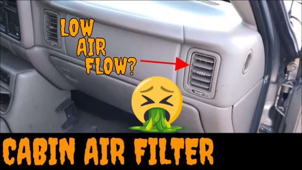 silverado cabin air filter location 2002 avalanche cabin