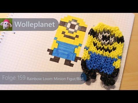 Rainbow Loom Minion Figur/Bild