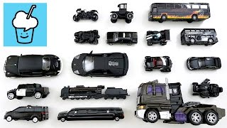 Learning Black Color for kids with street vehicles tomica トミカ siku VooV ブーブ transformer