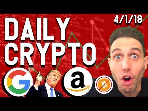 Daily Crypto News: Coinbase HACKED! Google ICO, U.S. Bans Bitcoin, Amazon Ripple Partnership $XRP