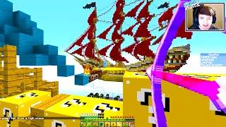 Minecraft LUCKY BLOCK SKY SHIP BATTLE! #1 - w/ THE PACK!