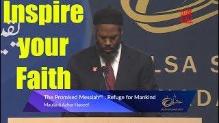 Promised Messiah (as) Refuge for Mankind -Maulana Azhar Haneef Sahib  Jalsa Canada 2017 Day 3