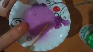 Kabartma tozu ve sıvı sabun ile slime denemesi