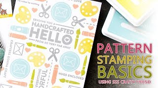 Pattern Stamp Basics (Simon Says Stamp February Card Kit Stamp Set - Crafty Friend)