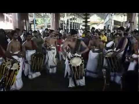 Perumbalam Sarath Performing thayambaka at thuravoor temple on 27-10-2013