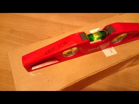 SOLA MM 5 25 Cast Aluminum Magnetic Torpedo Level, Red open box review