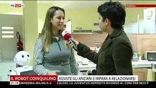 Prof. Bruno Siciliano and Dr Silvia Rossi interview @ PRISCA Lab - Sky TG24 - 12 Jan 2019