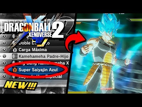 Nueva Transformacion SUPER SAIYAN BLUE para tu PERSONAJE - Dragon Ball Xenoverse 2