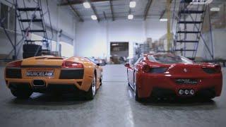 Ferrari 458 Italia & Lamborghini Murcielago LP640 RC Race Off!!