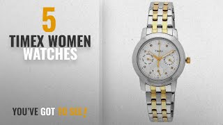 Top 10 Timex Women Watches [2018]: Timex E-Class Analog White Dial Women's Watch - TI000W10300