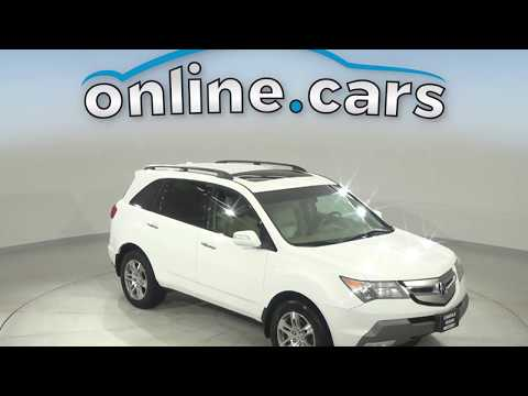R15091RO Used 2007 Acura MDX Technology AWD White SUV Test Drive, Review, For Sale