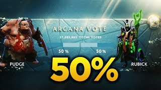 TI7 Arcana VOTE Revealed! PUDGE vs RUBICK - 50% / 50% - DOTA 2