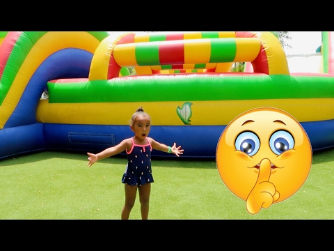 Thumbnail: TODDLER SNEAKS INTO GIANT BOUNCY CASTLE