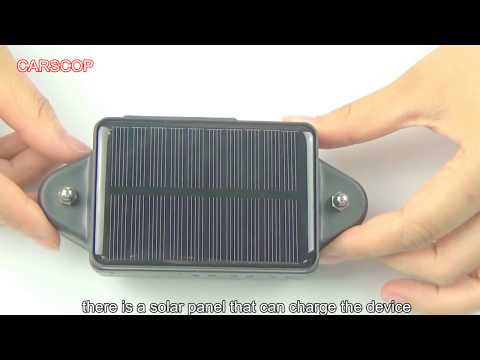 Carscop Solar GPS Tracker CCTR-808S Unboxing Video HD