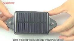 Carscop Solar GPS Tracker CCTR-808S Unboxing Video HD