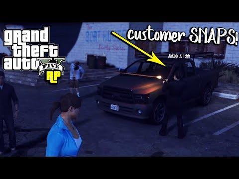 CUSTOMER SNAPS AT CAR EMPORIUM! (GTA RP)