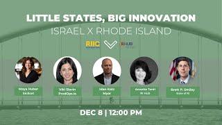 Little States, Big Innovation: Israel x Rhode Island | District Hall Providence