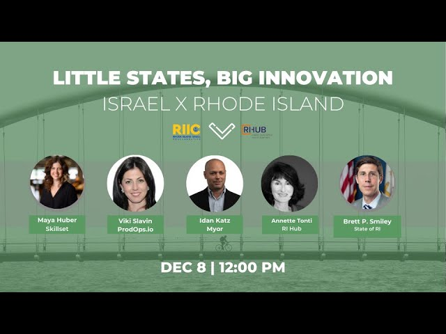 Recording Episode 4 - Little States, Big Innovation RI X Israel, Next Episode (5) is January 12th