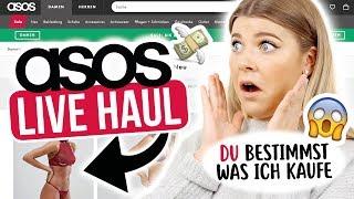 ONLINE ASOS LIVE HAUL  💻 | IHR bestimmt was ich kaufen muss 😱 | Coco
