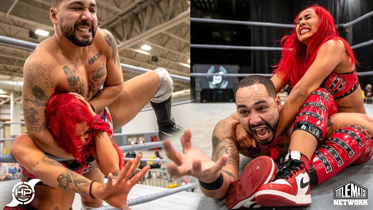 Miranda Alize vs Danny Limelight (Intergender Wrestling) Hurricane Pro - Title Match Network