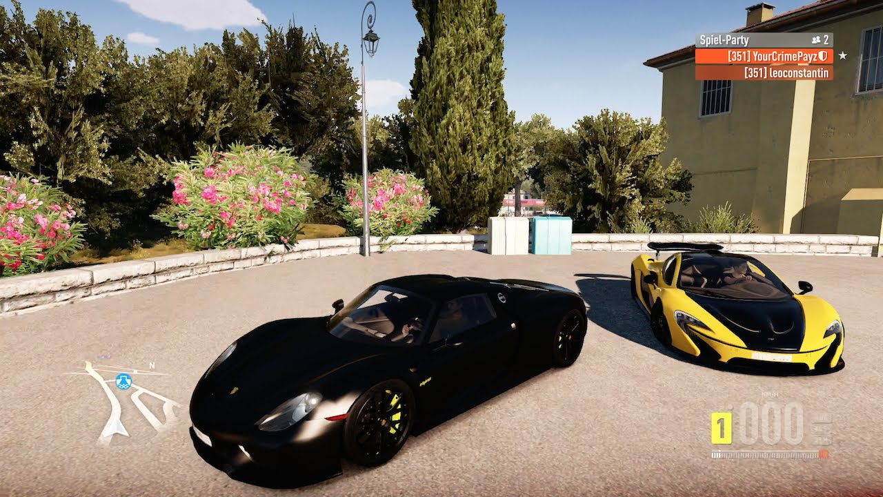 forza horizon 2 street racing porsche 918 spyder mclaren p1 highway battle youtube. Black Bedroom Furniture Sets. Home Design Ideas