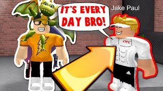 JAKE PAUL JOINED MY GAME!! (Roblox MM2)