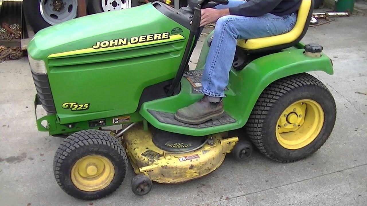 john deere gt225 [ 1280 x 720 Pixel ]