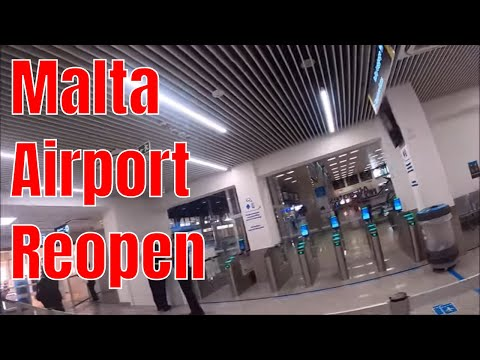 Maltese International airport reopen from July 1st. Let's walk around,  MALTA