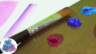 Pintura Acrilica: Como Pintar con Acrilicos de Tubo *Acrylic Paint* Tecnica español Pintura Facil