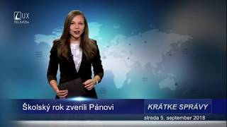 Prvý deň v škole  reportáž TV Lux