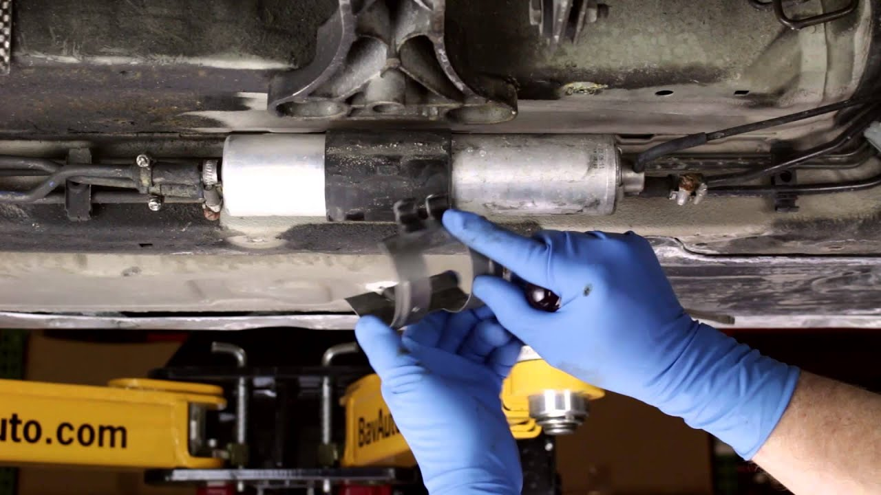 Replacing an undercar fuel filter on a BMW  How To  YouTube
