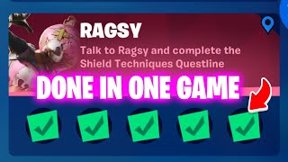 [in one game] H๐w To complete All Ragsy Quest - Ragsy challenges fortnite