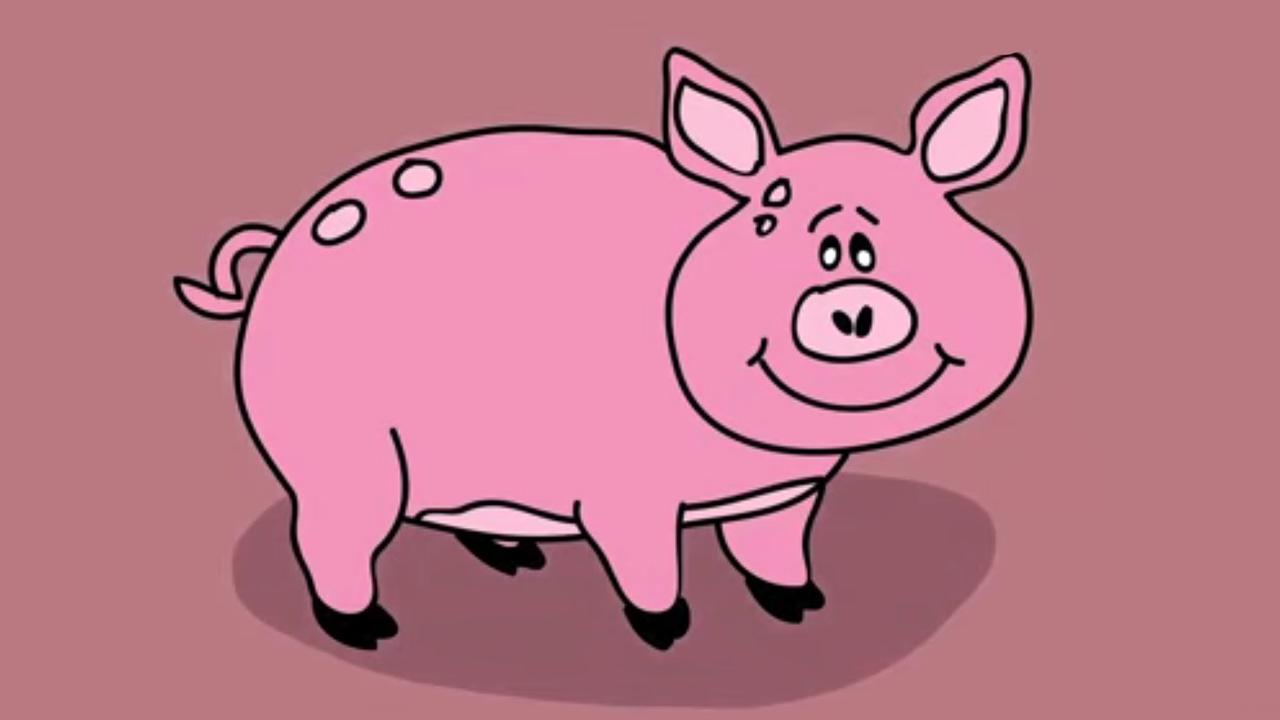Apprendre dessiner un cochon youtube - Cochon a dessiner ...